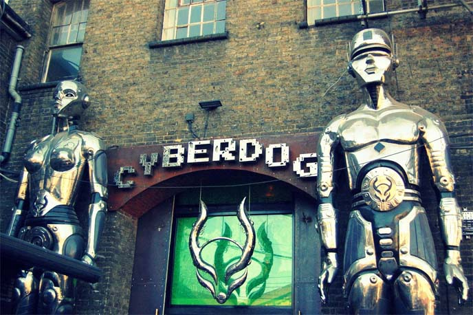 cyberdog, camden market, london, cyber clothing store, rave fashion, cyberdog shop