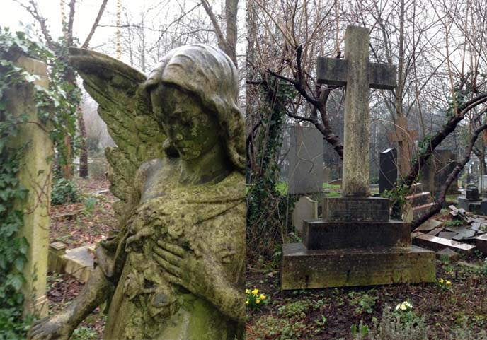 highgate cemetery, london gravestones, goth cemetery, graveyard, gothic tombstones
