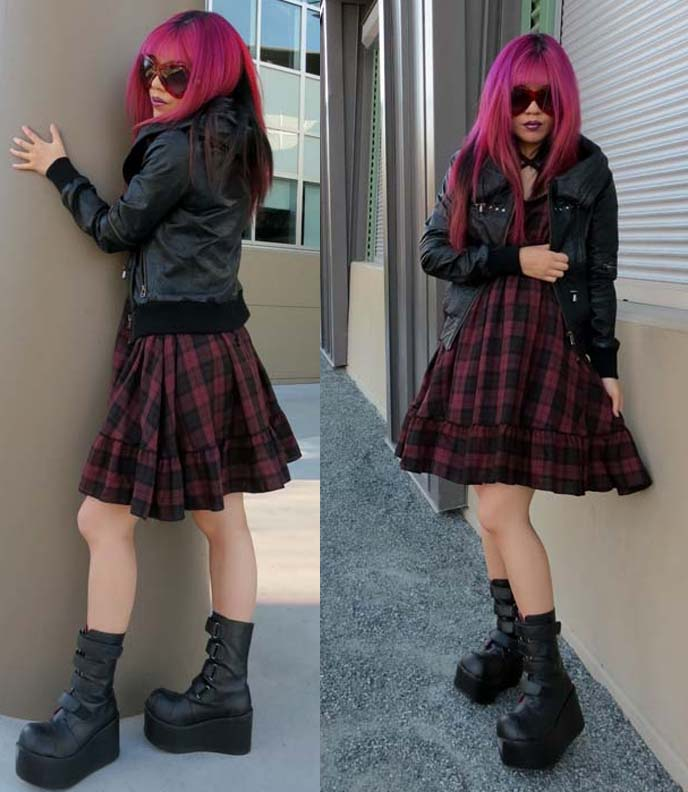 alternative fashion blogger, japanese street fashion snap, grunge, lookbook