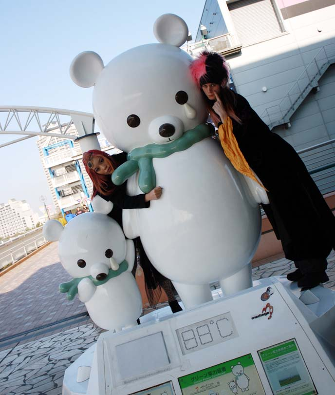 japanese bear statues, global warming polar bears