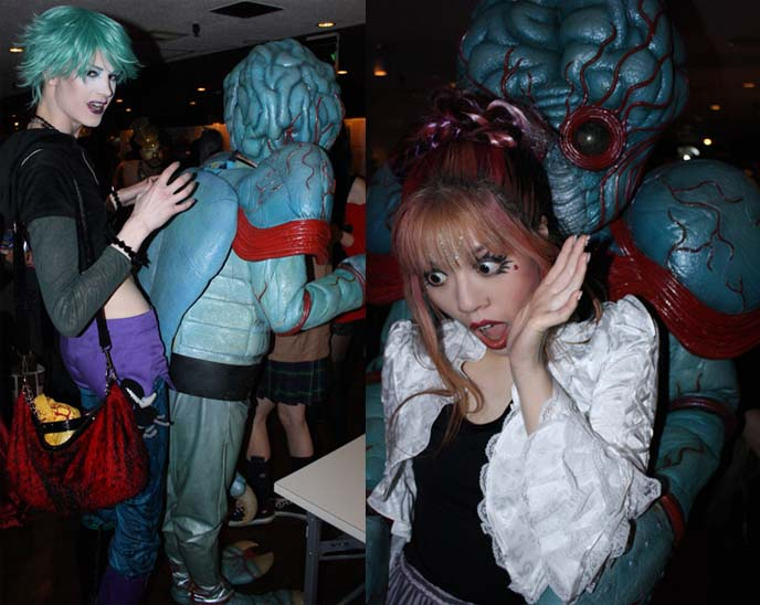 japan alien costume, tentacles monster