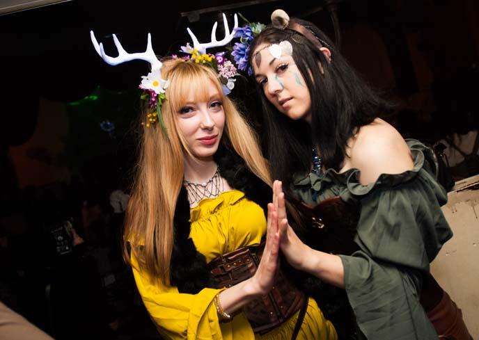mori kei, tokyo mori fashion, deer antler hairpiece