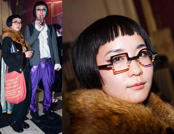 asymmetrical glasses, cool japanese glasses