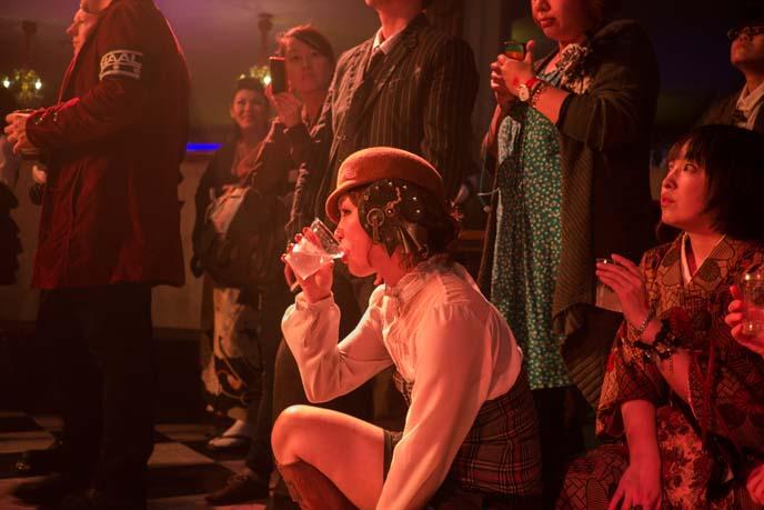 japanese steampunk party, steampunk girls