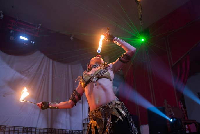 japanese fire breather, sword swallower
