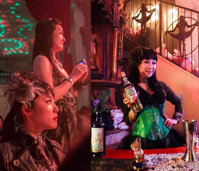 absinthe tokyo, absente, japanese steampunk hair
