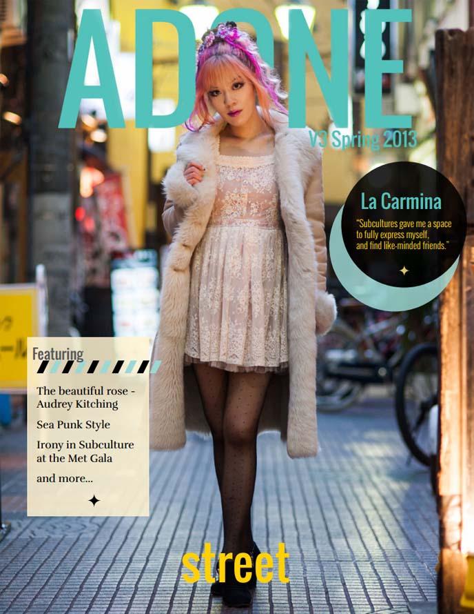 adone magazine, street style magazines, japanese fashion snaps