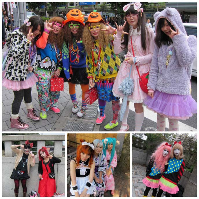 harajuku girls, tokyo crazy clothes, style tribes