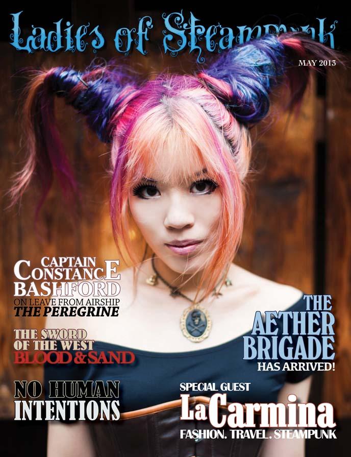 ladies of steampunk magazine, steam girl model, japanese model