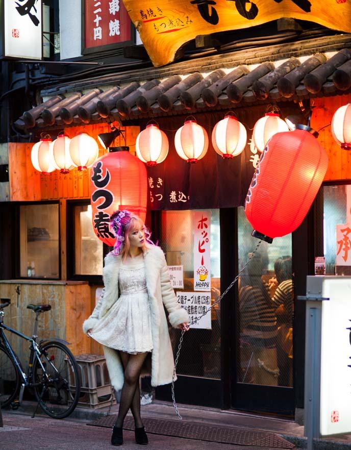 nakano, japanese lanterns, tokyo at night