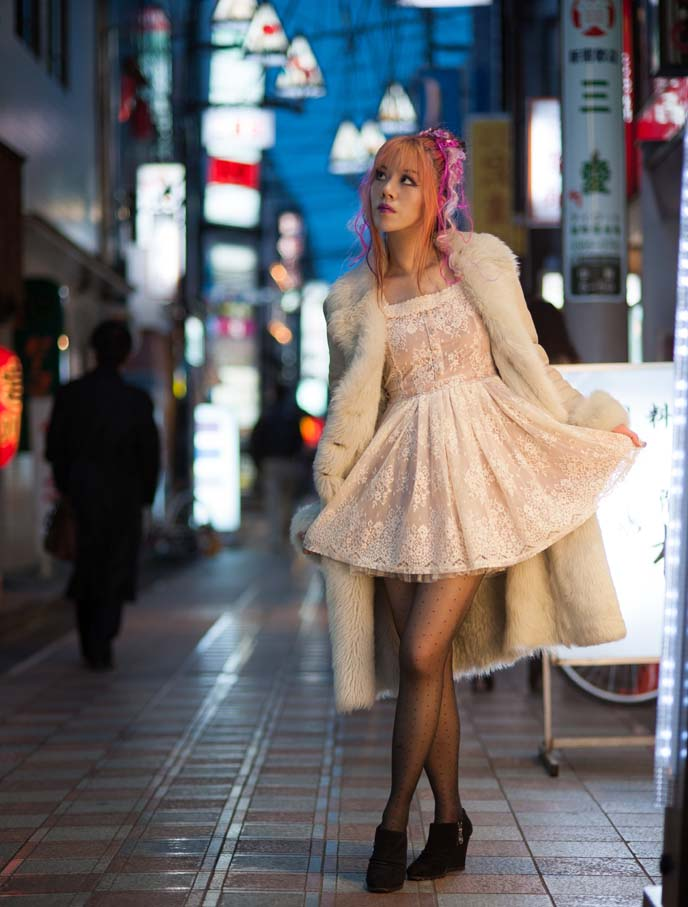 japanese pop star fashion, makeup, hair color