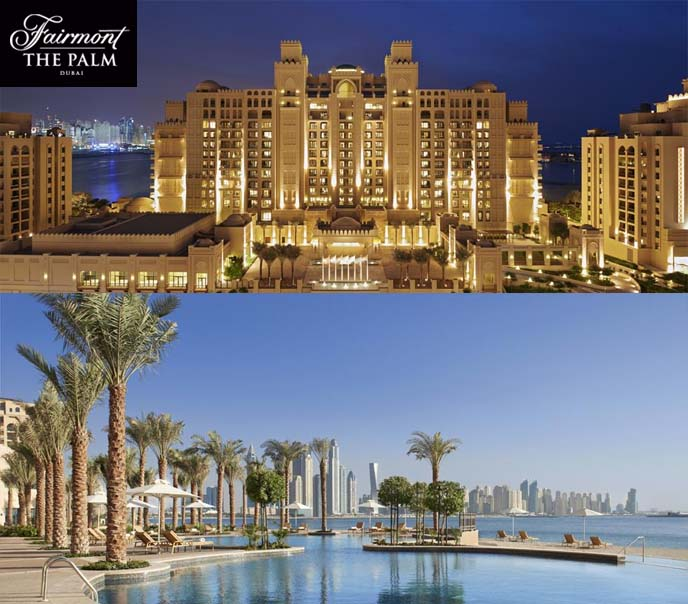 fairmont palm dubai hotel, 5 star dubai hotels