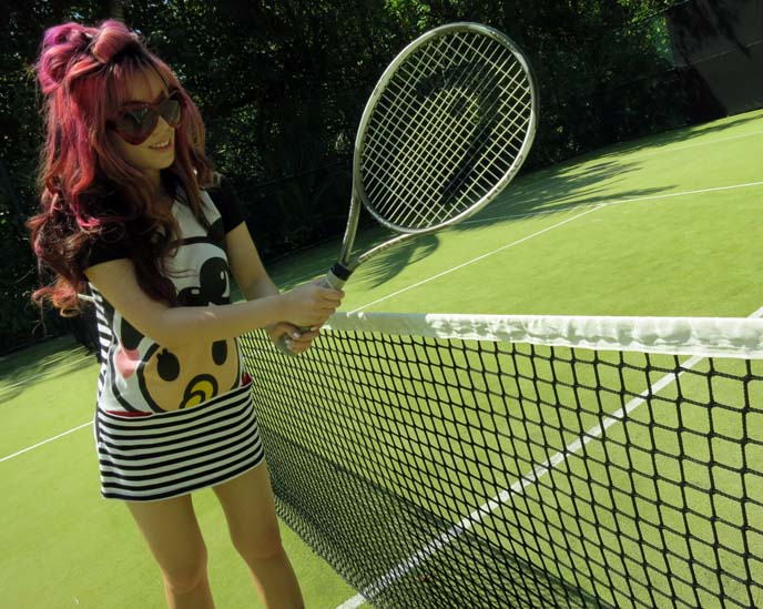 tennis court playing, female tennis outfit dress