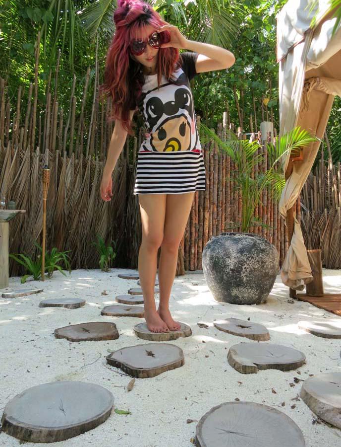 marc by marc jacobs dot sunglasses, panda bear dress