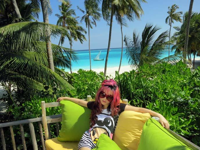 Maldives scenery, view, landscape, boat