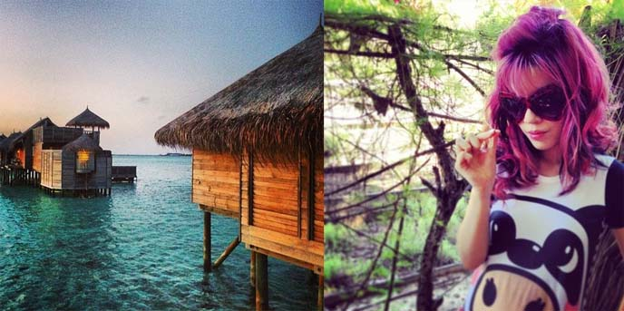 Maldives huts, gili lankanfushi