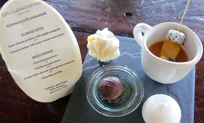dessert plate, macaroons, pralines