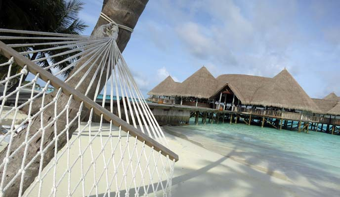 Maldives houses, hammock