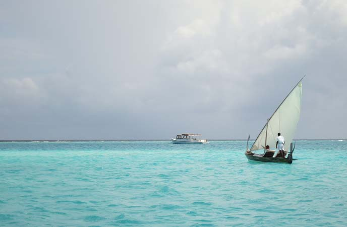 Maldives boat, dhoni, sailing