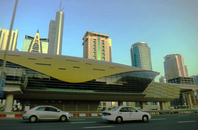 Dubai metro, subway station, alien city
