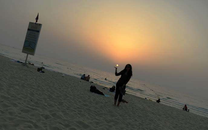 arabian sand, beaches, sunset