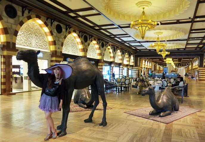 Dubai Mall souk, camel statues
