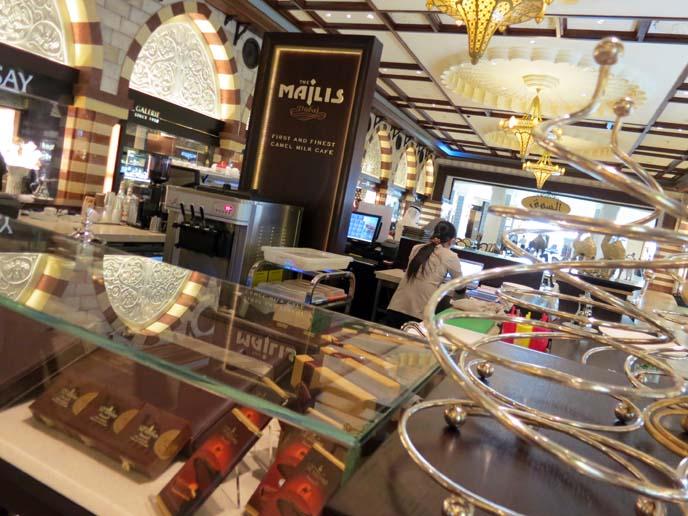 Majlis camel milk chocolate shop