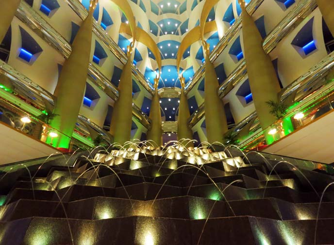 most expensive hotel, interior Burj Al Arab