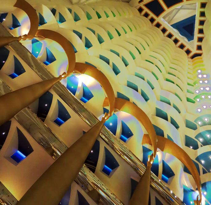 balcony Burj Al Arab, dubai famous hotel