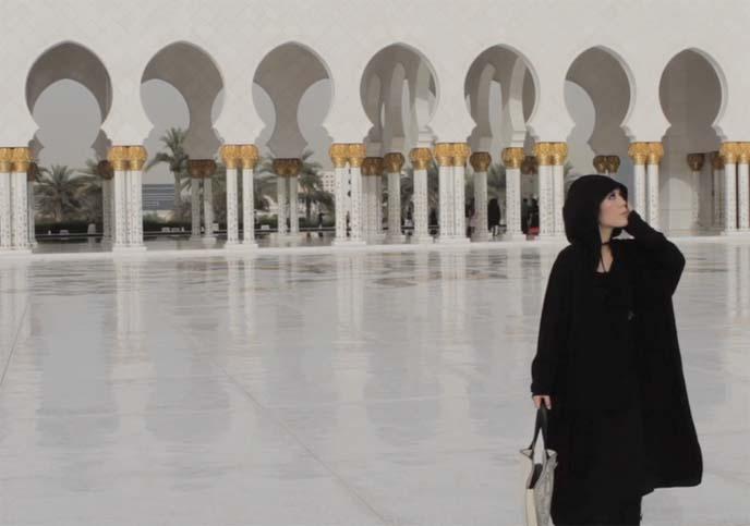 arabian mosque, sheikh zayed mosaic courtyard