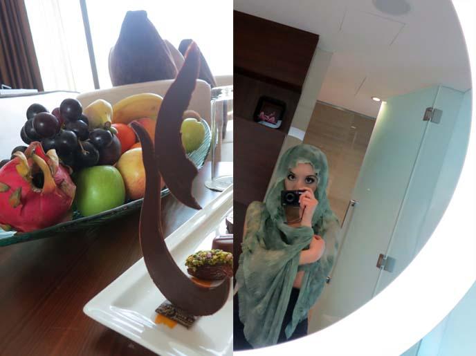 fairmont abu dhabi room, mirror