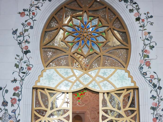 stained glass, abu dhabi mosque
