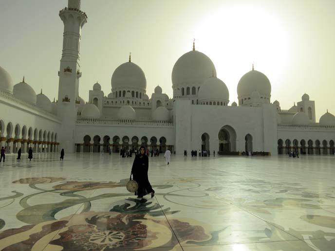 mosque at sunset, prayer, muslim architecture
