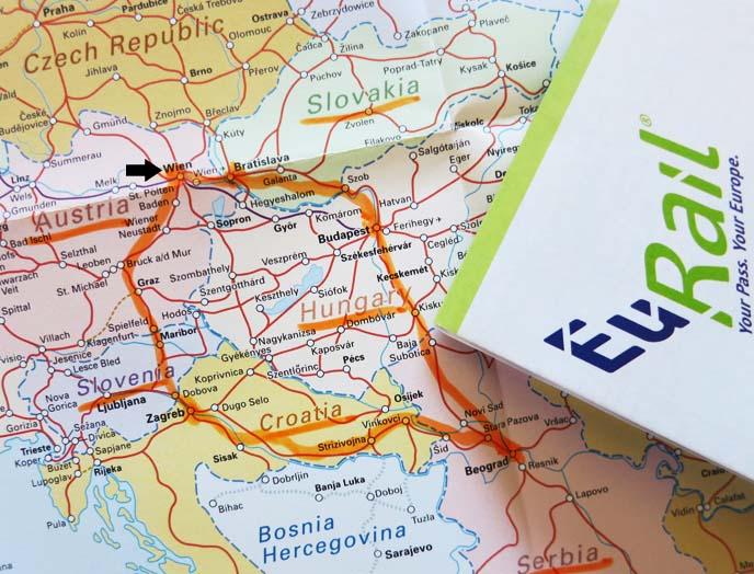 eurail railway map, routes, eastern european countries
