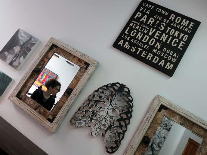 rib cage art, hipster mirrors