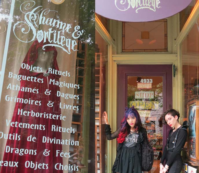Montreal magick shop, goth shops