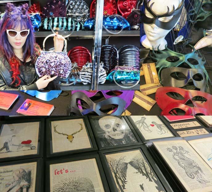 Montreal kinetik festival, goth clothes, shops