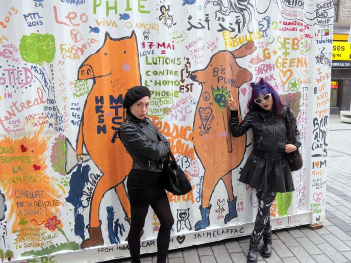 Montreal street art, mural