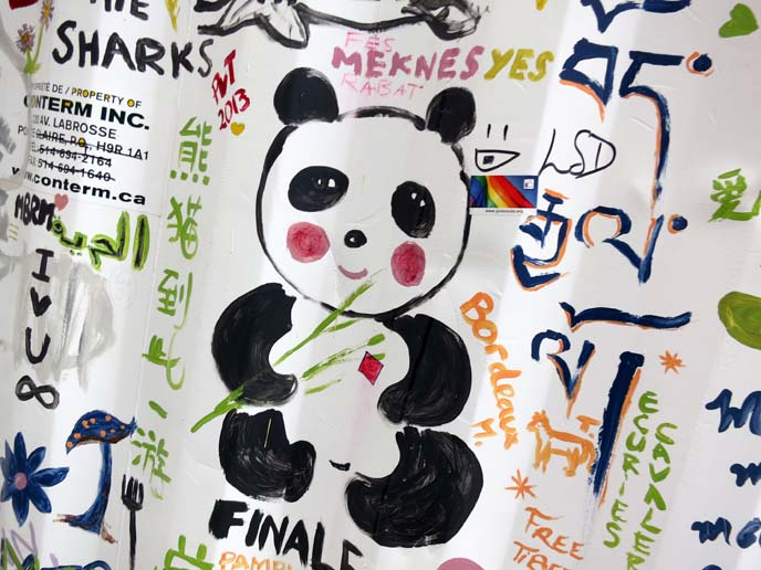 panda bear art, drawing, cute