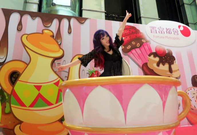 giant tea cup, tea party backdrop