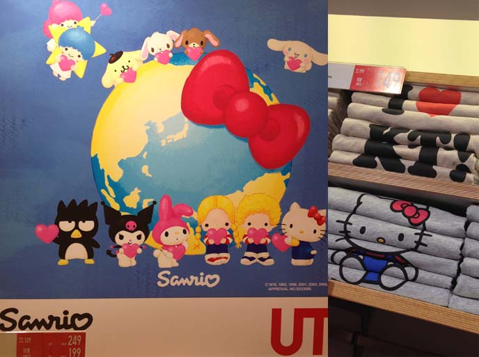 sanrio and uniqlo collaboration, hello kitty tshirts