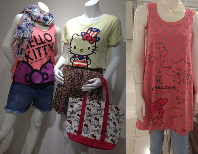 my melody tshirts, sanrio fashion uniqlo
