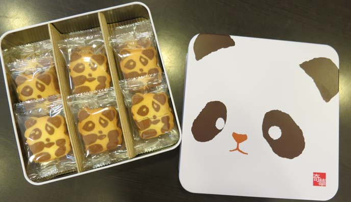 kee wah bakery, panda bear cookies, panda box