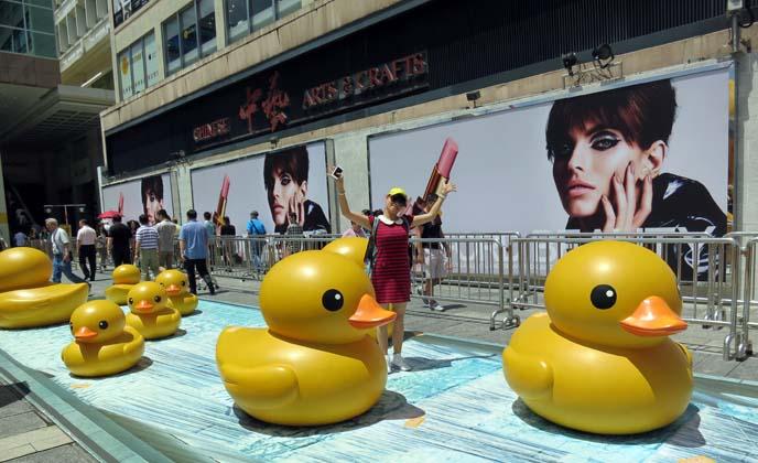 kowloon harbor art exhibit, chinese weird