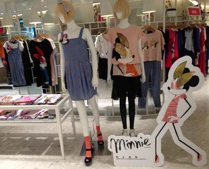 minnie mouse fashion, disney clothing line hong kong