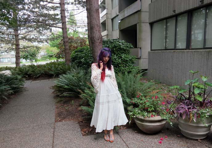 long white dress, liz lisa dress, mori girl