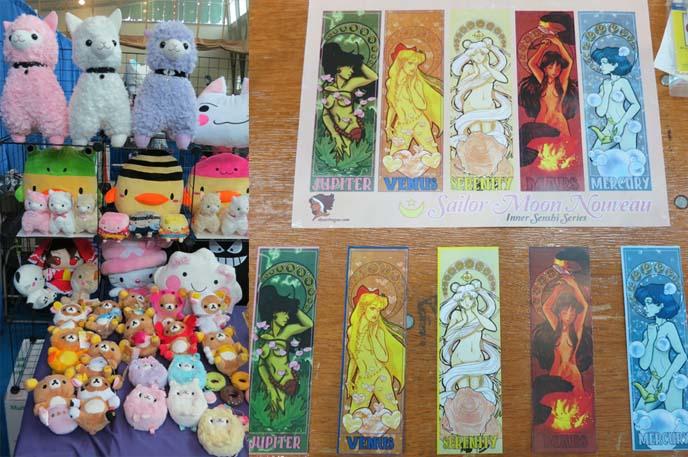 alpaca toys, llama stuffed animals, sailor moon art nouveau