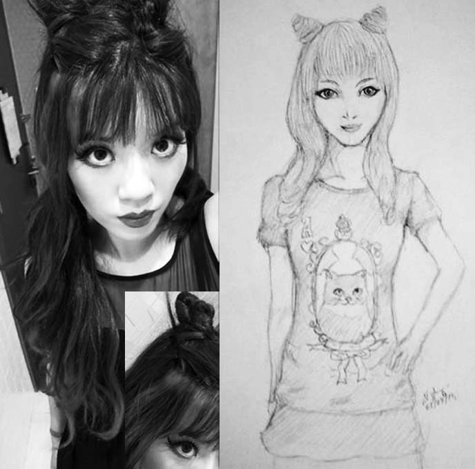 kyary pamyu pamyu fan art, fashion blogger drawing