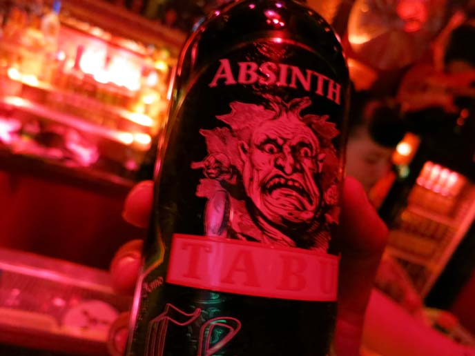 absinth tabu, absinthe bottle monster