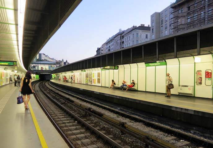 wien subway tracks, U-Bahn